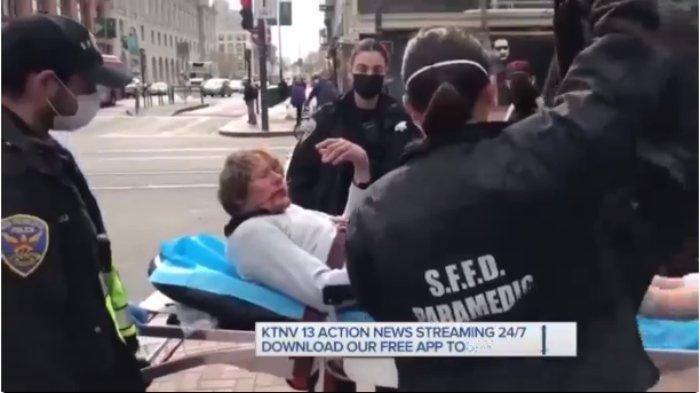 Pemuda dihajar balik oleh nenek yang dipukulnya