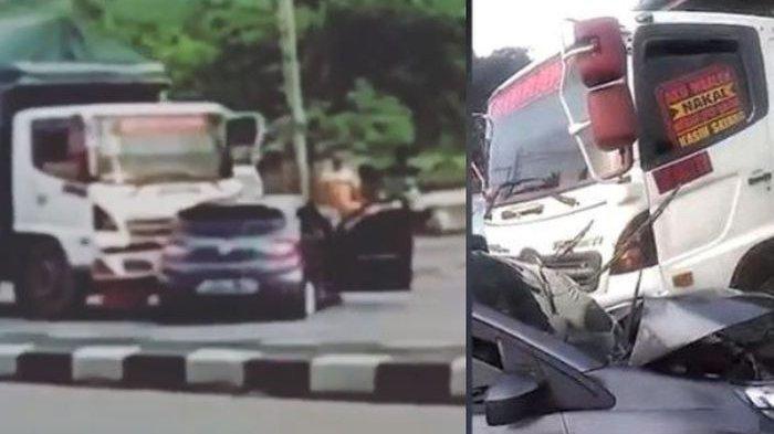 Pengemudi mobil selamat meski diseret truk gandeng di Gerbang Tol Bawen
