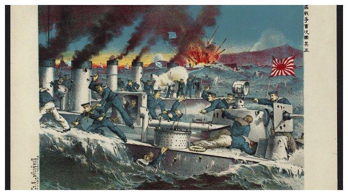 Ilustrasi Pertempuran Port Arthur.