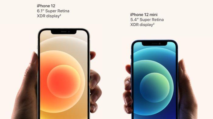 Perbedaan ukuran iPhone 12 dengan iPhone 12 mini