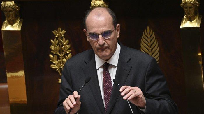 Perdana Menteri Prancis Jean Castex memberikan pidato untuk mempresentasikan programnya di Majelis Nasional di Paris, pada 15 Juli 2020.