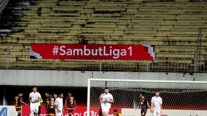 Pertandingan PSM vs Persija di leg pertama semifinal Piala Menpora 2021 di Stadion Maguwoharjo, Sleman, Yogyakarta, Kamis (15/4/2021) malam WIB.