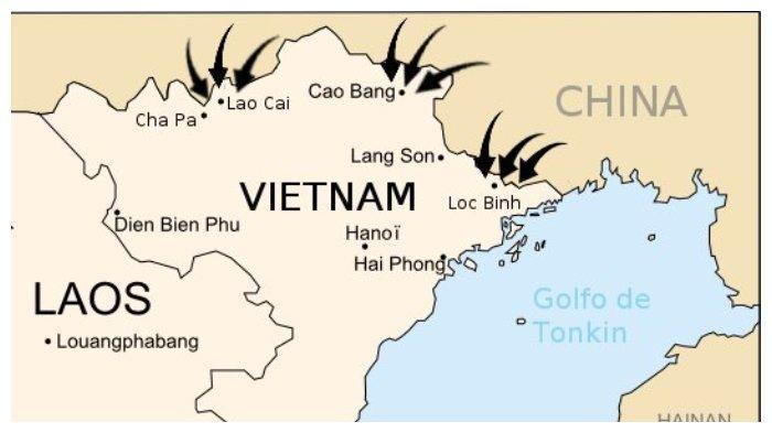 Peta serbuan China ke Vietnam