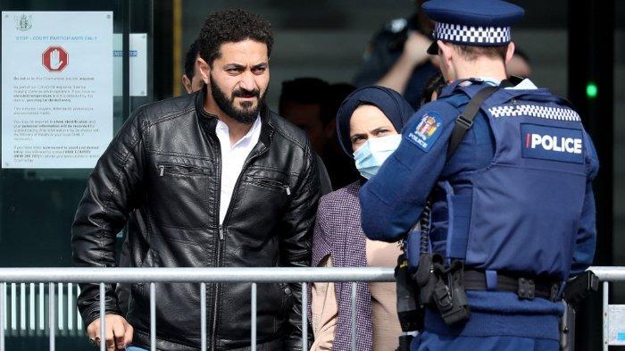 FOTO: Terlihat petugas kepolisian bersiaga di depan Gedung Pengadilan Tinggi Christchurch, Selandia Baru, saat sidang vonis terdakwa Brenton Tarrant, pelaku penembakan di masjid Selandia Baru.