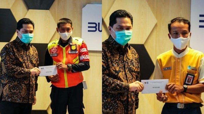 Dua petugas KRL penemu uang Rp 500 juta di salah satu gerbong di KRL Jakarta-Bogor diangkat menjadi karyawan tetap oleh Erick Thohir.