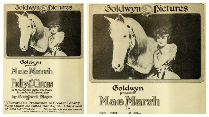 Poster Polly of the Circus (1917) film pertama yang dirilis Goldwyn Pictures