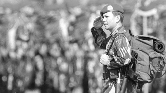 Prabowo Subianto saat masih menjadi militer.