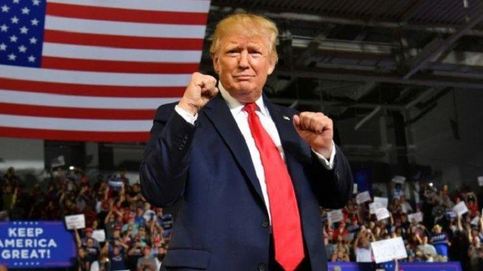 ILUSTRASRI - Presiden Amerika Serikat Donald Trump saat berpidato di acara kampanye akbar Pilpres 2020 di Greenville, Carolina Utara, Rabu malam (17/7/2019).