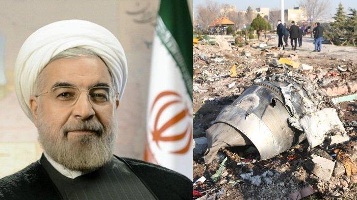 Presiden Iran berkomentar melalui media sosialnya atas insiden jatuhnya pesawat Boeing 737. Iran mengakui tidak sengaja menembak pesawat penumpang tersebut