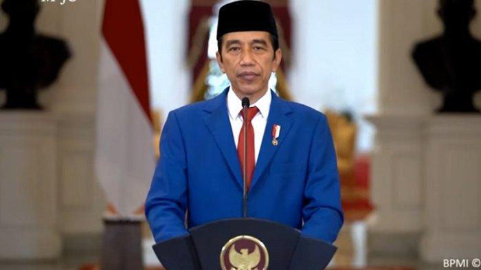 Presiden Joko Widodo (Jokowi) menyampaikan pidato perdananya dalam Sidang Majelis Umum (SMU) ke 75 PBB secara virtual, Rabu (23/9/2020).