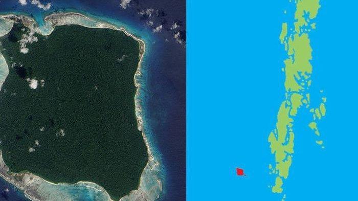 Pulau Sentinel  di kawasan Gugusan Kepulauan Andaman India