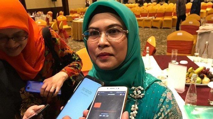 Putri Maruf Amin, Siti Nur Azizah, di Merdeka Hall Intermark BSD, Serpong, Tangerang Selatan, Selasa (23/7/2019). Anak dari Wakil Presiden Maruf Amin yakni Siti Nur Azizah dengan tegas menolak hasil dari Kongres Luar Biasa (KLB) Partai Demokrat di Deliserdang