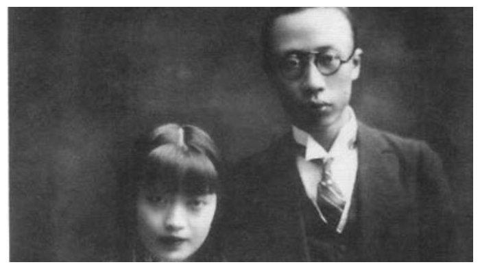 Puyi bersama Wanrong, istrinya