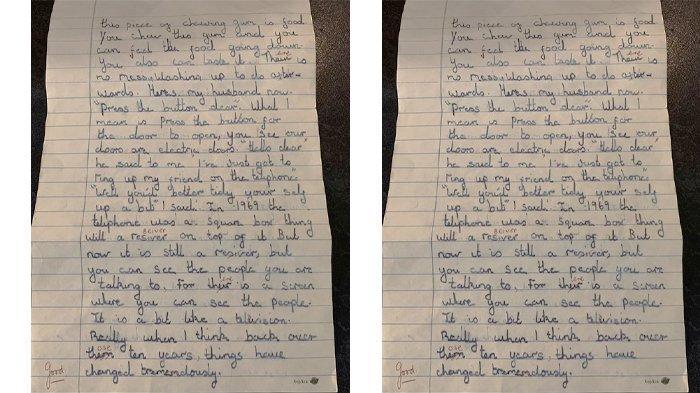 Tulisan ini ditulis pada Februari 1969 dan diberi tanda 'good' semacam penilaian dari guru.