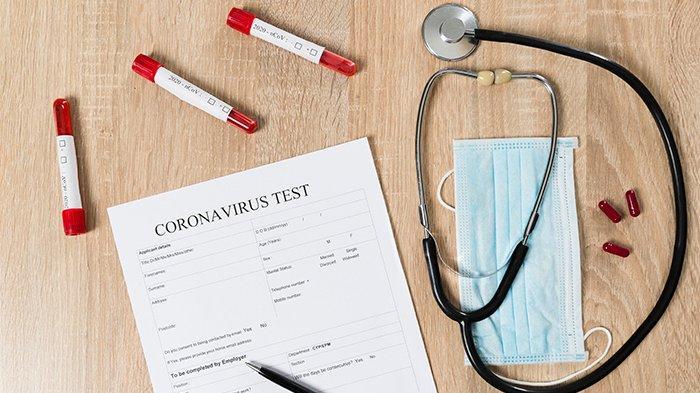 Ilustrasi tahapan tes virus corona atau penyakit Covid-19.
