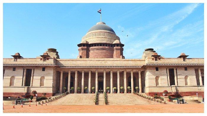 Rashtrapati Bhavan, kediaman Presiden India, salah satu landmark New Delhi