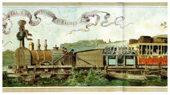 Rel kereta api di Brussels digunakan perdana pada 5 Mei 1835