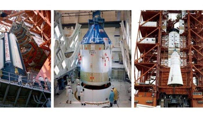 Roket Saturn IB dalam misi Apollo 7(nasa.gov)