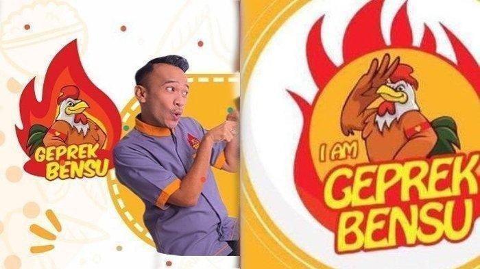 Ruben Onsu tak akan ganti nama merek Geprek Bensu, hanya akan ubah jenis huruf dan logo.