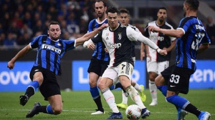 Pertandingan Liga Italia, Juventus vs Inter Milan.