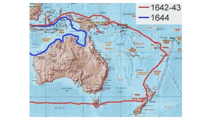 Rute penjelajahan Abel Tasman