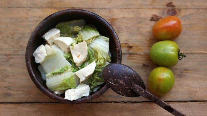 Ilustrasi sayur oyong sawi putih