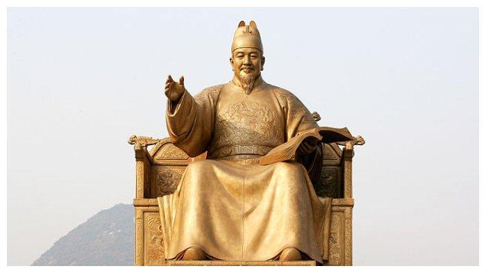 Patung perunggu Raja Sejong