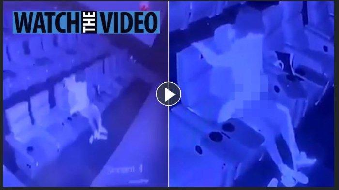 Sepasang kekasih tertangkap kamera CCTV bioskop saat berhubungan seks di kursi bioskop