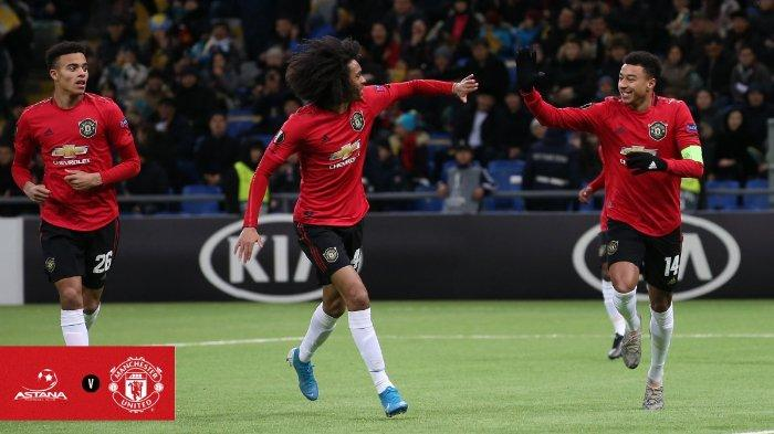 Mason Greenwood, Tahit Chong dan Jesse Lingard, gagal membawa membawa Manchester United menang kala bertandang ke markas Astana di laga lanjutan Grup L, Liga Europa, Kamis (28/11/2019).