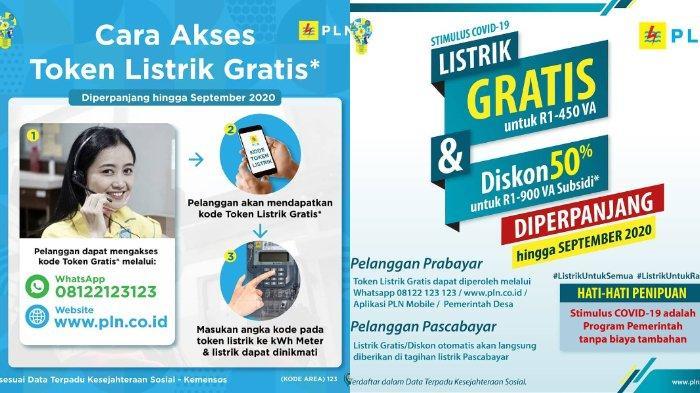 Klaim Listrik Gratis Pln Untuk September Klik Stimulus Pln Co Id Atau Wa Ke 08122 123 123 Tribunnewswiki Com Mobile