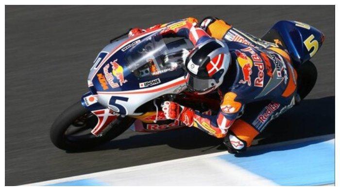 Simon Jaspersen membalap di Red Bull MotoGP Rookies Cup