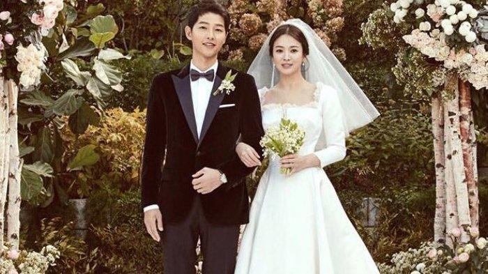 Pernikahan Song Joong Ki dan Song Hye Kyo di Hotel Shilla, Seoul, Korea Selatan pada 31 Oktober 2017.