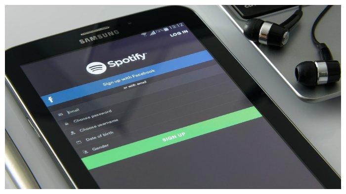 Ilustrasi aplikasi Spotify