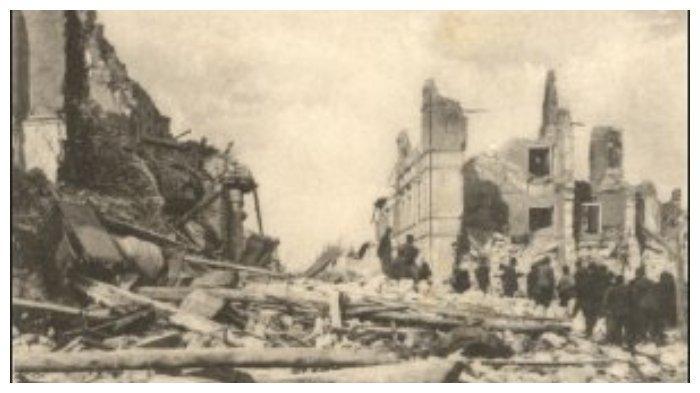 Suasana setelah Gempa Avezzano
