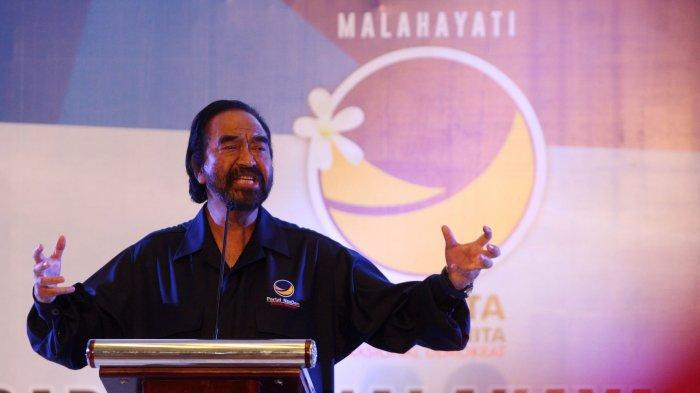 Ketua Umum DPP Partai Nasdem Surya Paloh. (TRIBUN TIMUR/SANOVRA JR)