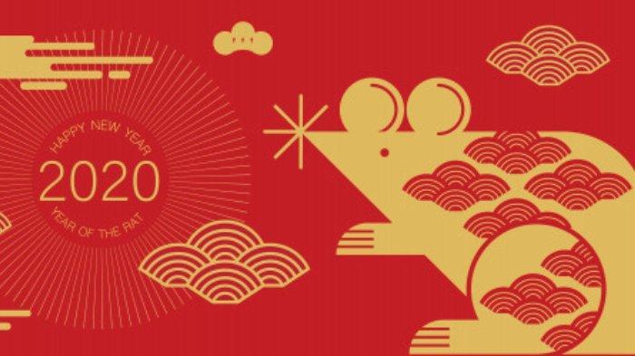 Ilustrasi tahun 2020 yang menurut horoskop atau zodiak china merupakan tahun Tikus Logam.