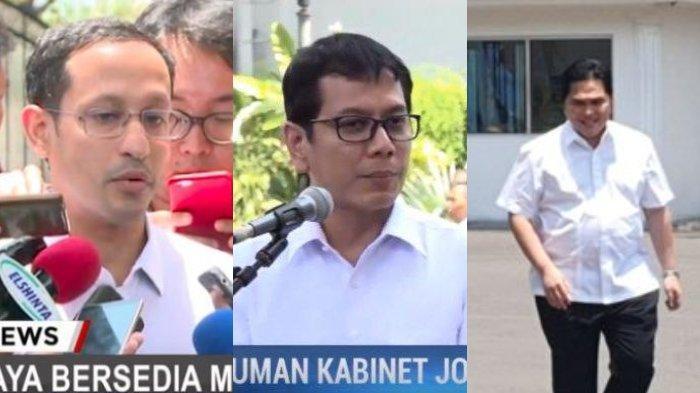 Tanggapan Wishnutama, Erick Thohir, dan Nadiem Makarim saat Ditunjuk Menjadi Menteri Kabinet Jokowi
