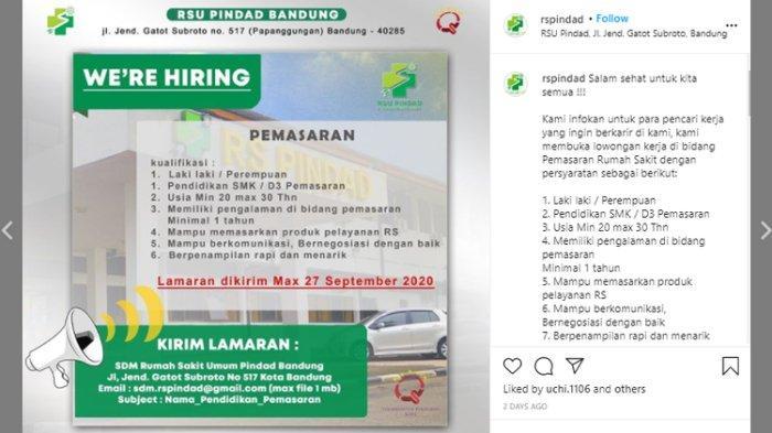 Lowongan Kerja Rsu Pindad Dan Nakes Pemprov Dki Jakarta Butuh Banyak Lowongan Ini Cara Daftarnya Tribunnewswiki Com Mobile