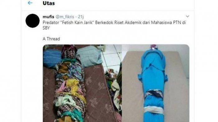 Tangkapan layar soal thread Fetish Kain Jarik yang viral di Twitter(Twitter)