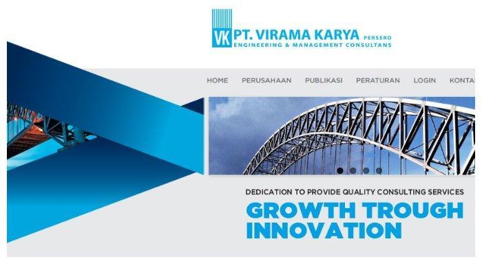 Tangkapan layar website PT Virama Karya.