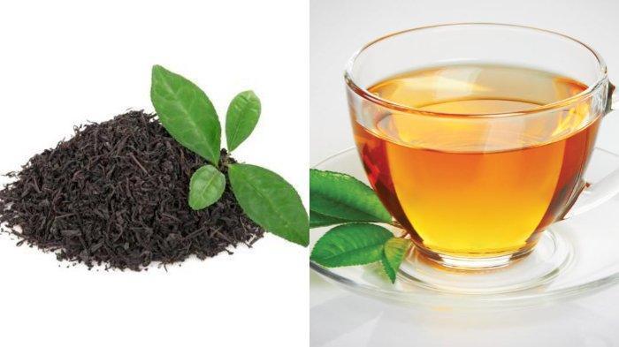 Daun teh diolah dengan cara dikeringkan untuk kemudian diseduh dengan air panas menjadi minuman.