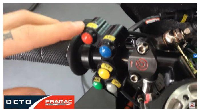 Tombol di motor MotoGP milik Pramac