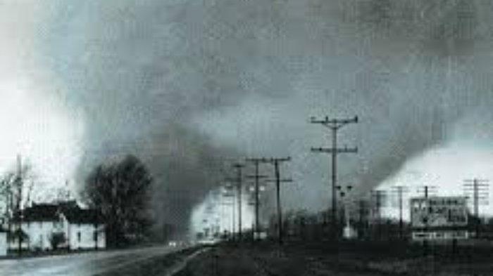 Hari ini dalam sejarah, 18 Maret 1925 terjadi bencana alam angin tornado yang melanda tiga negara bagian di Amerika Serikat.