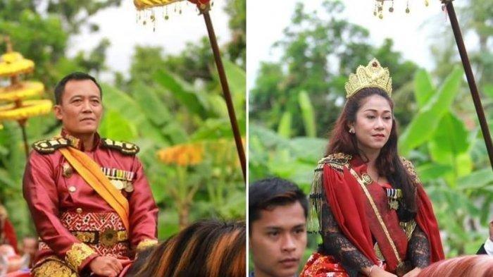 Totok Santoso Hadiningrat alias Sinuhun sebagai Raja Keraton Agung Sejagat, dan Dyah Gitarja sebagai Kanjeng Ratu. (IST/Twitter via ReqNews)