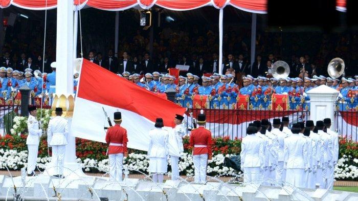 Upacara Bendera Peringatan HUT Kemerdekaan Republik Indonesia tahun 2017 di Istana Merdeka