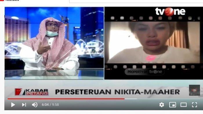 Ustaz Maaher saat menjadi narasumber di Kabar Pertang TV One, pada Senin (16/11/2020).
