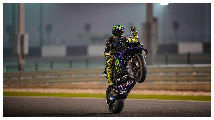 Valentino Rossi pada tes pramusim MotoGP 2020 di Sirkuit Qatar hari kedua (23/02/2020)