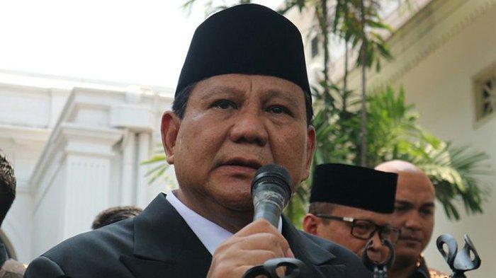 Menteri Pertahanan Prabowo Subianto.