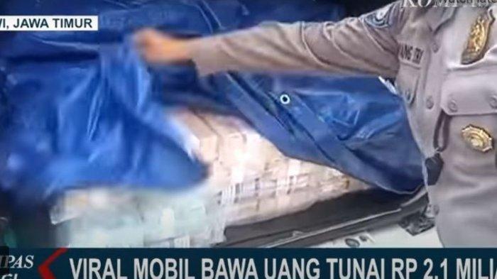 viral mobil bawa uang Rp 2 m
