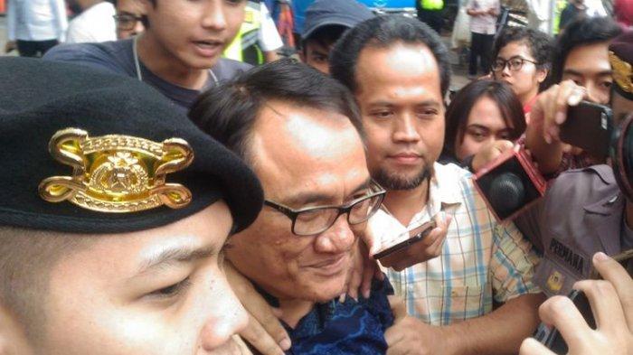 Wasekjen Partai Demokrat Andi Arief saat menyambangi BNN, Jakarta, Rabu (6/3/2019).